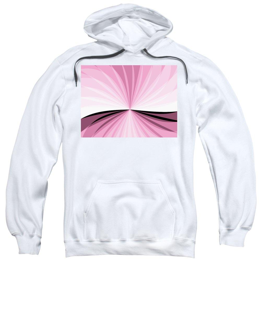 Digital Art Sweatshirt featuring the digital art Graphic Pink And White by Gabiw Art