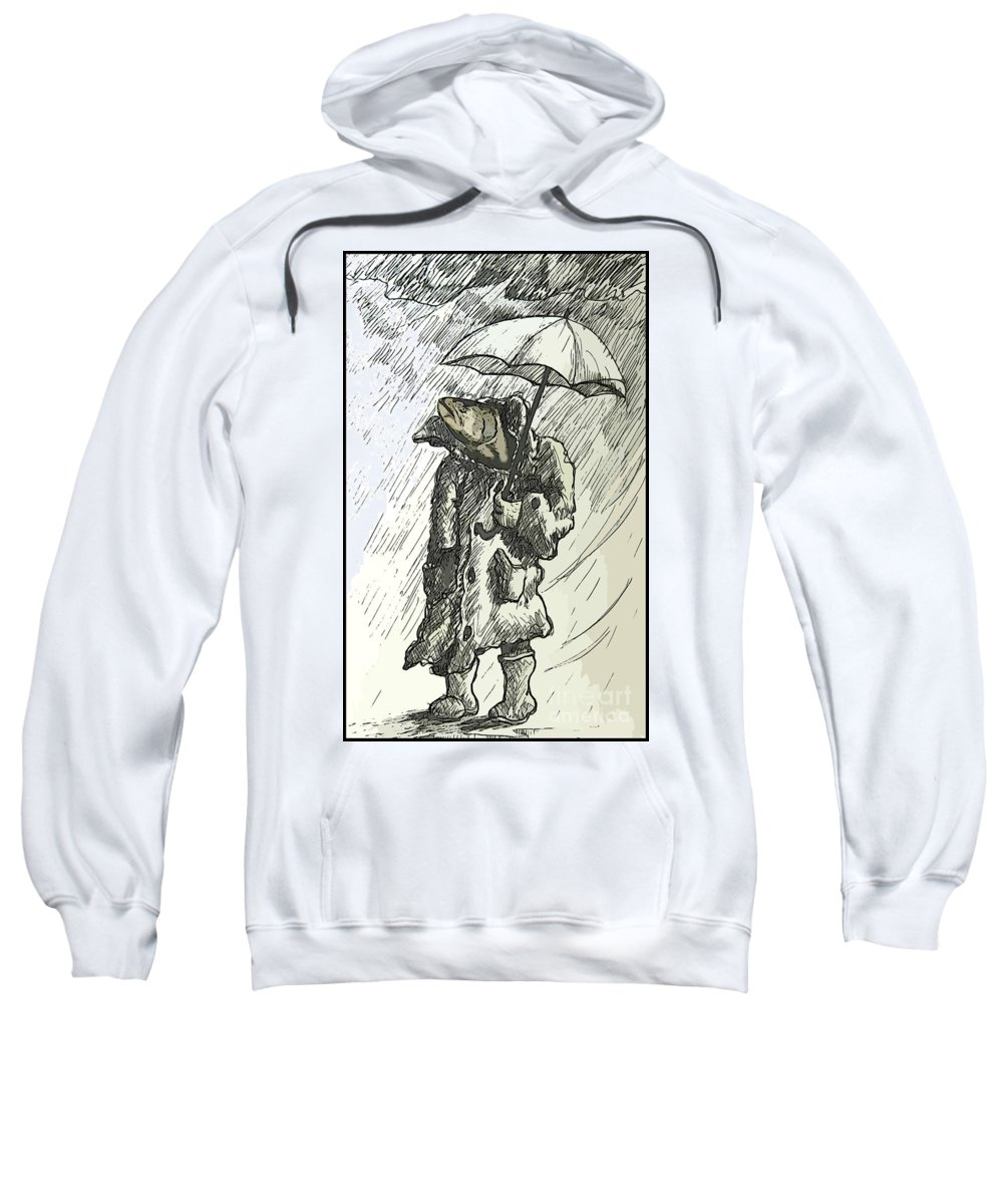 Surrealism Sweatshirt featuring the digital art Great Weather For A Walk Two by John Malone