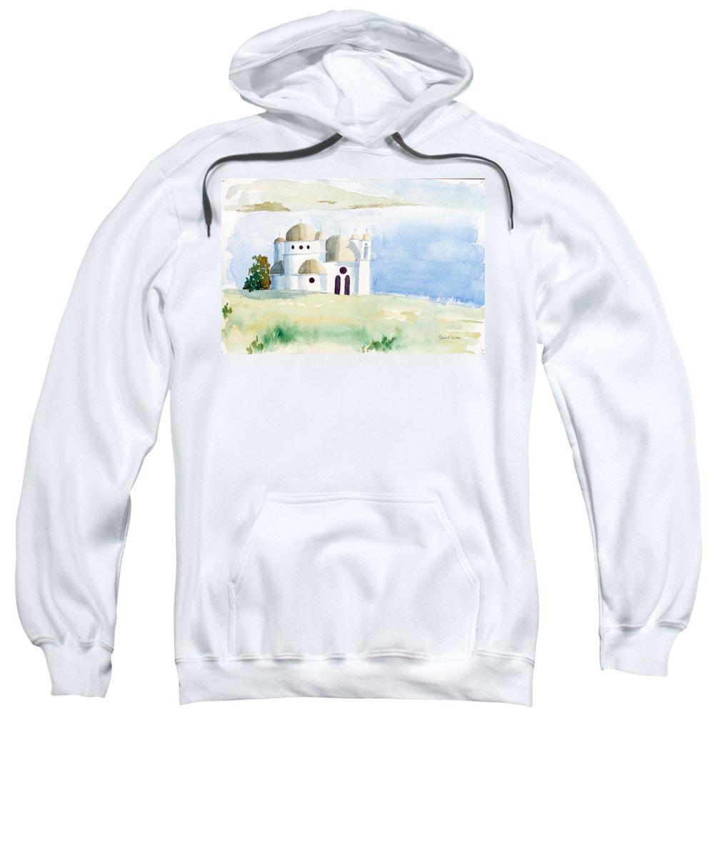 Greek Sweatshirt featuring the painting Greek Orthodox Church 2 by J Darrell Hutto
