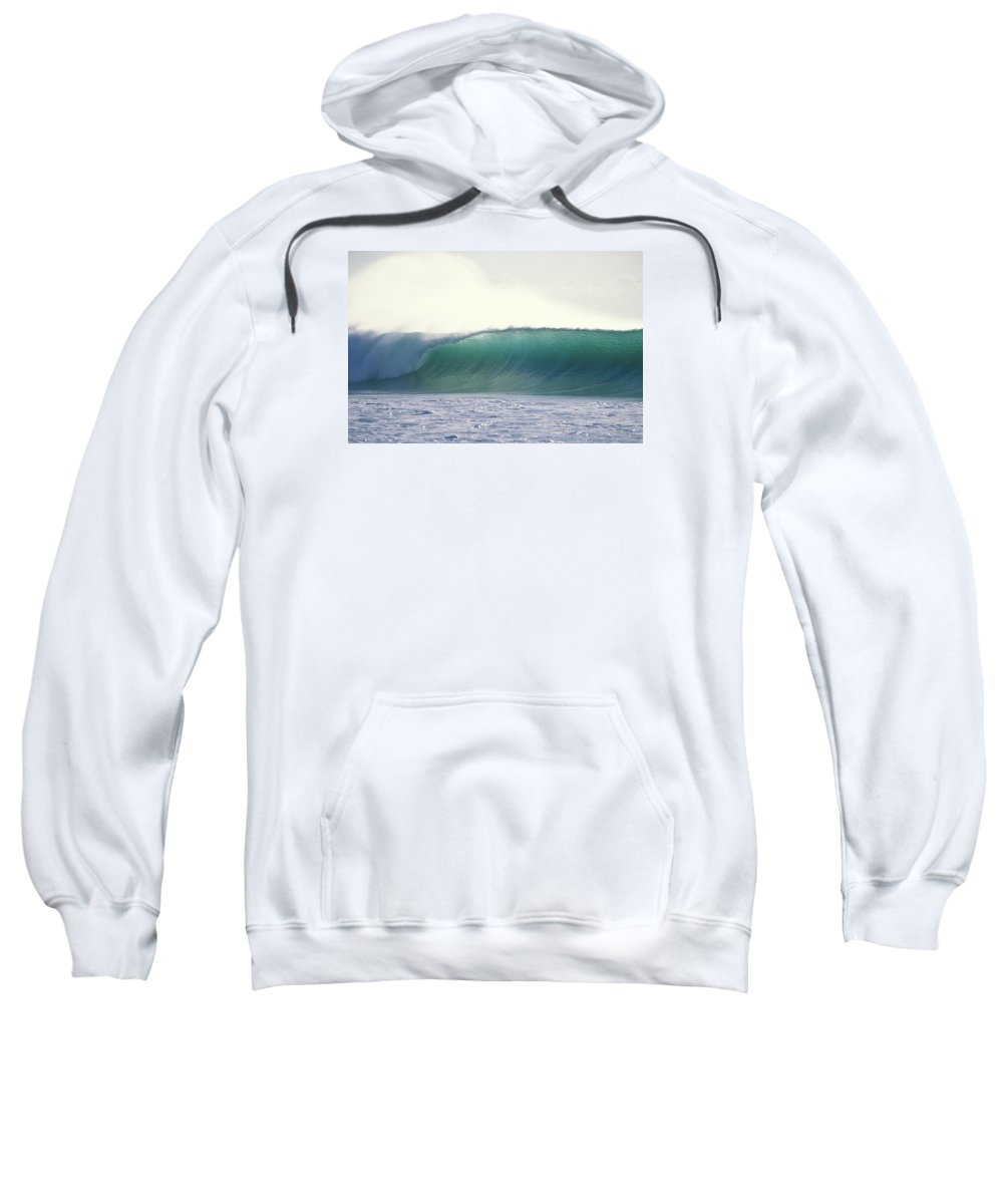 Sea Swell Sweatshirt featuring the photograph Green Feather by Sean Davey