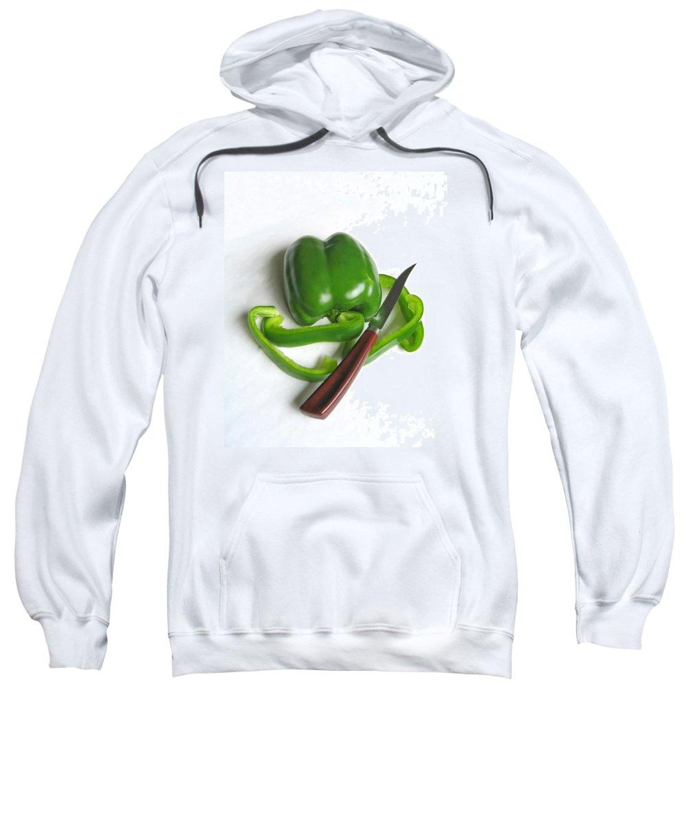 Food Sweatshirt featuring the photograph Green Veggie Munchie by Ann Horn