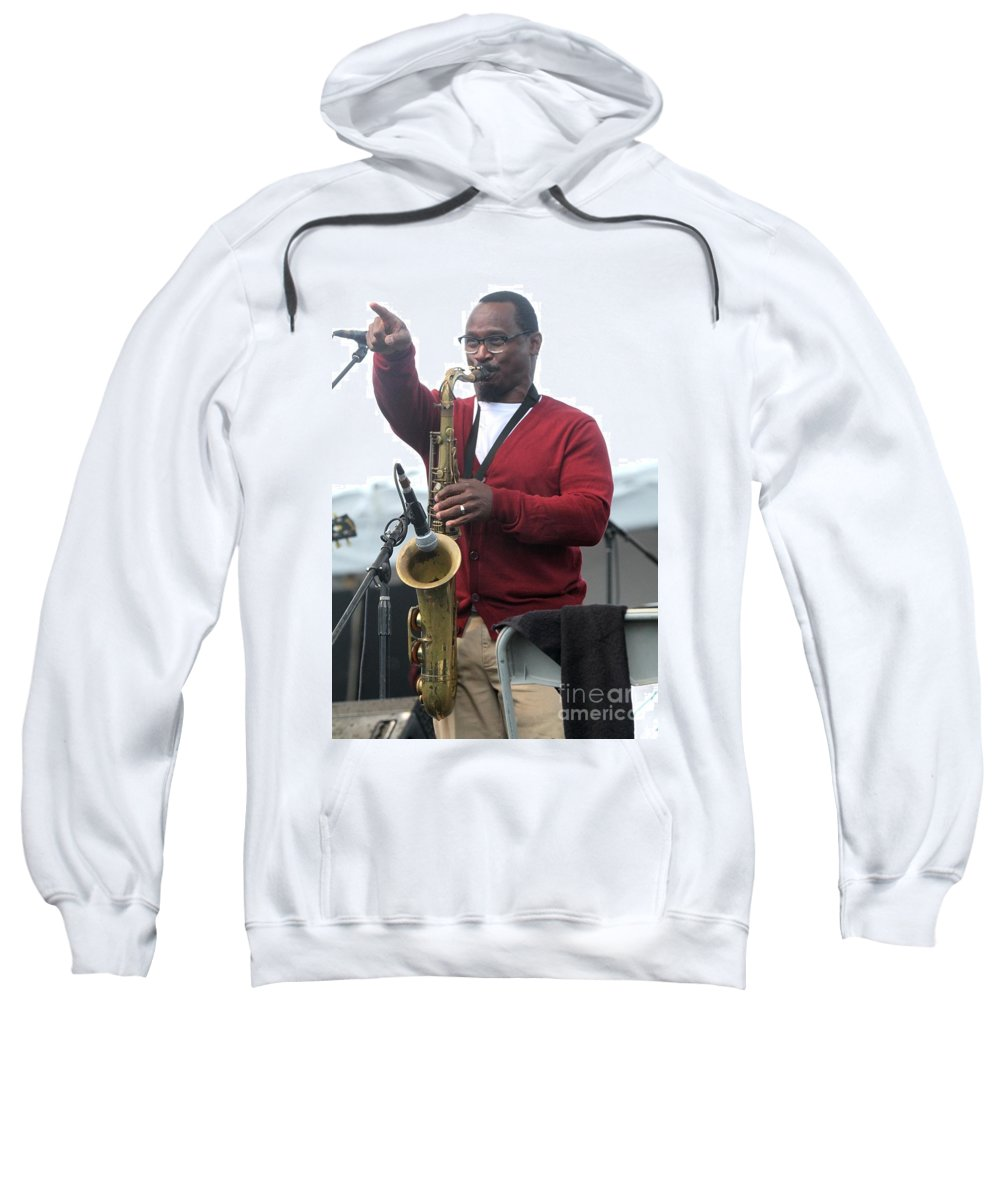Performing Sweatshirt featuring the photograph Greyboy Allstars by Concert Photos