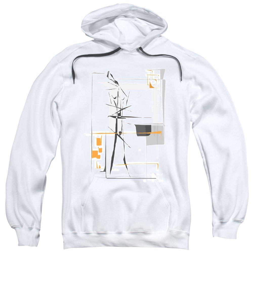 Graphics Sweatshirt featuring the digital art Gv100 by Marek Lutek