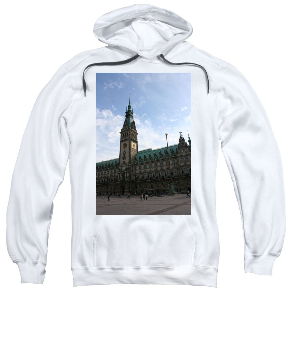 Hamburg Sweatshirt featuring the photograph Hamburg - City Hall - Germany by Christiane Schulze Art And Photography