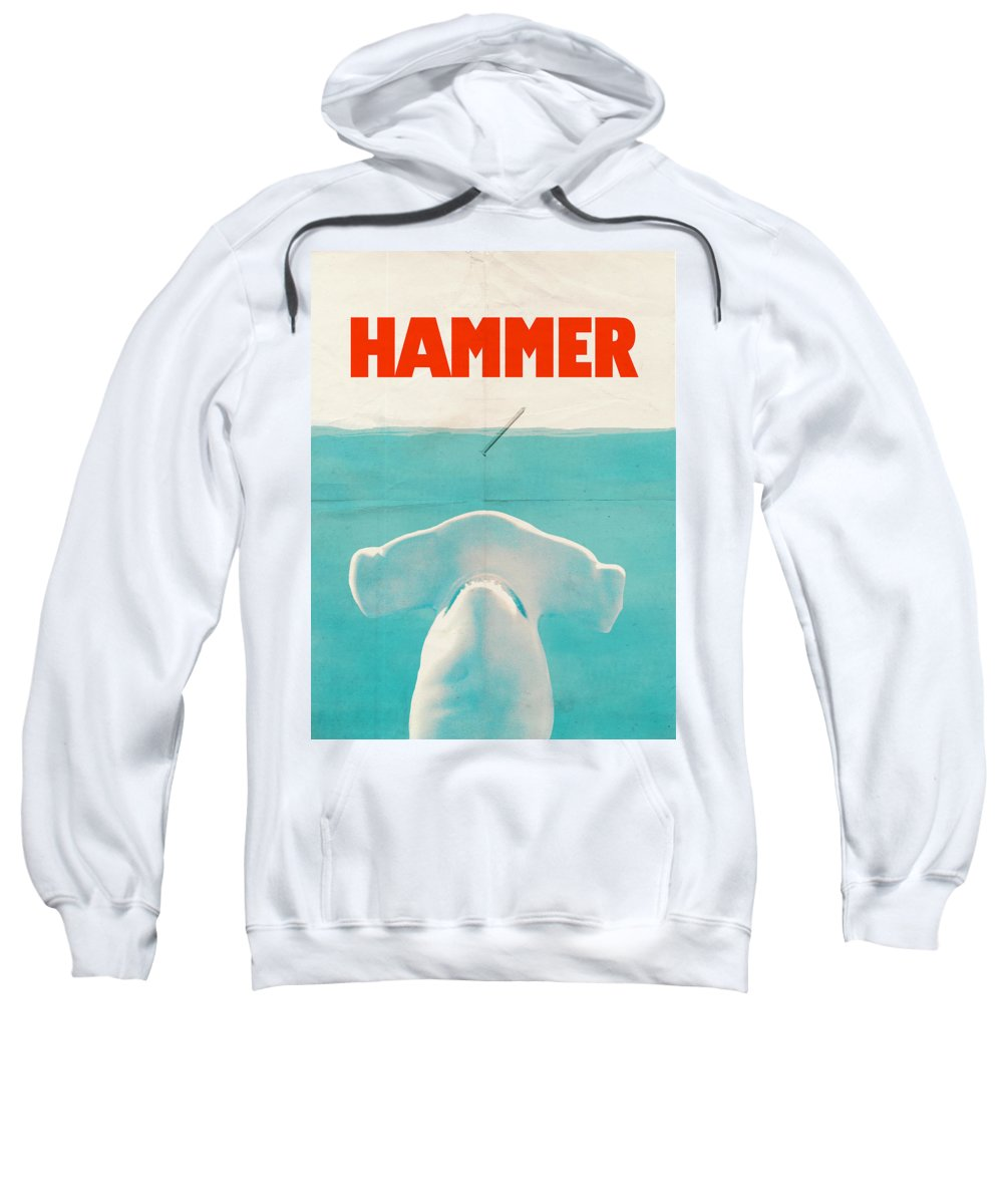 Jaws Sweatshirt featuring the drawing Hammer by Eric Fan