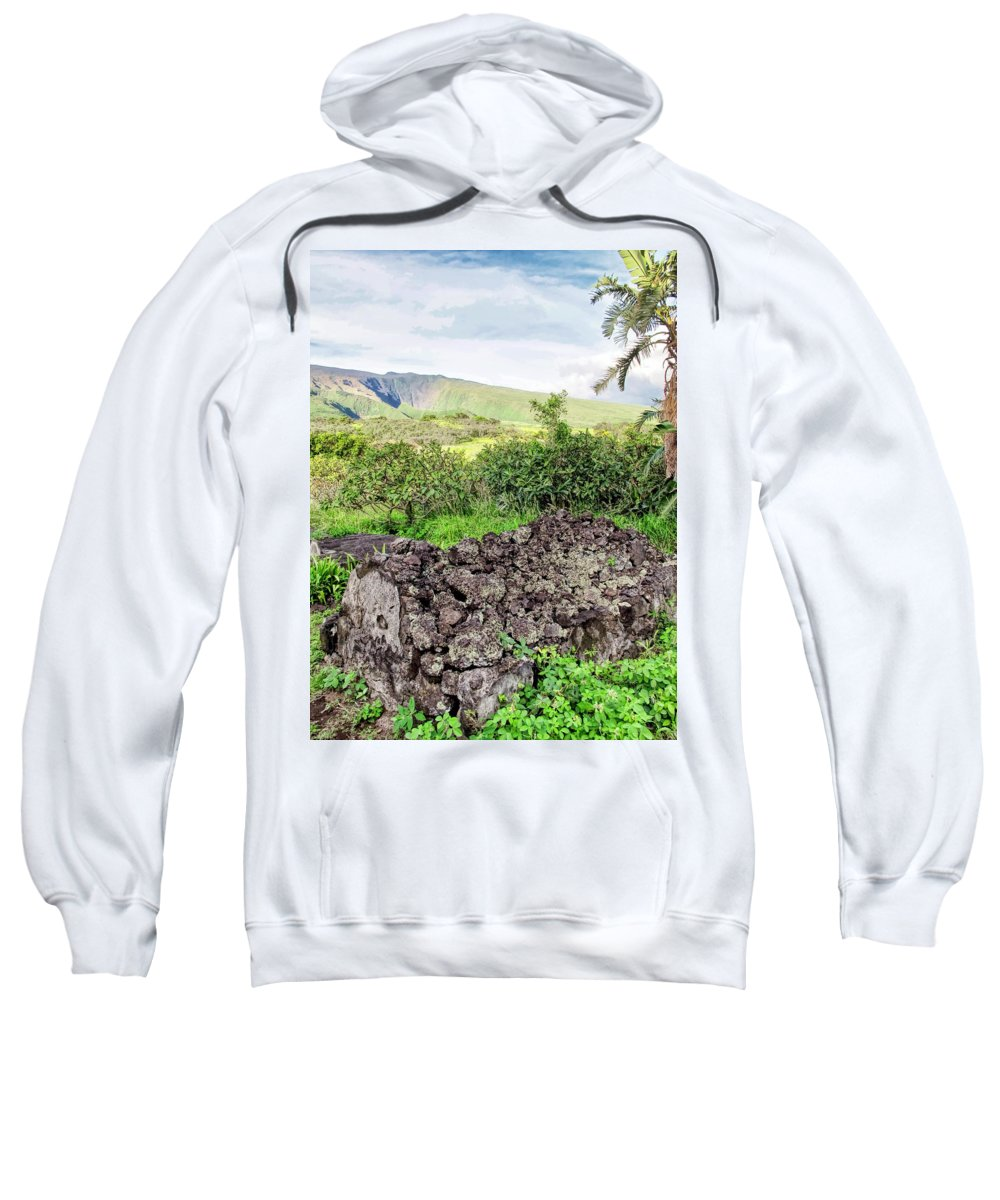 Church Sweatshirt featuring the photograph Hana Church 11 by Dawn Eshelman