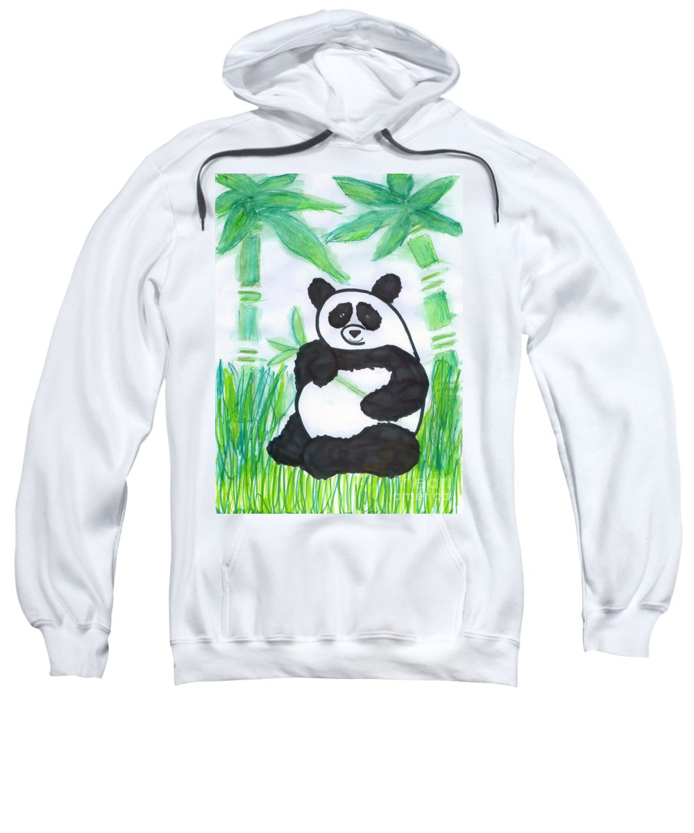 Giant Panda Sweatshirt featuring the photograph Happy Panda O.o. by Ausra Huntington nee Paulauskaite
