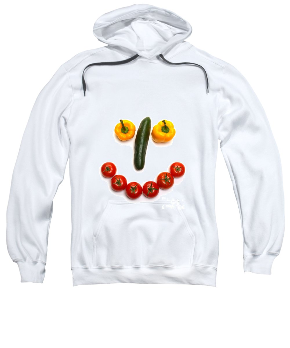 Vegetables Sweatshirt featuring the photograph Happy Veggie Face by Olivier Le Queinec