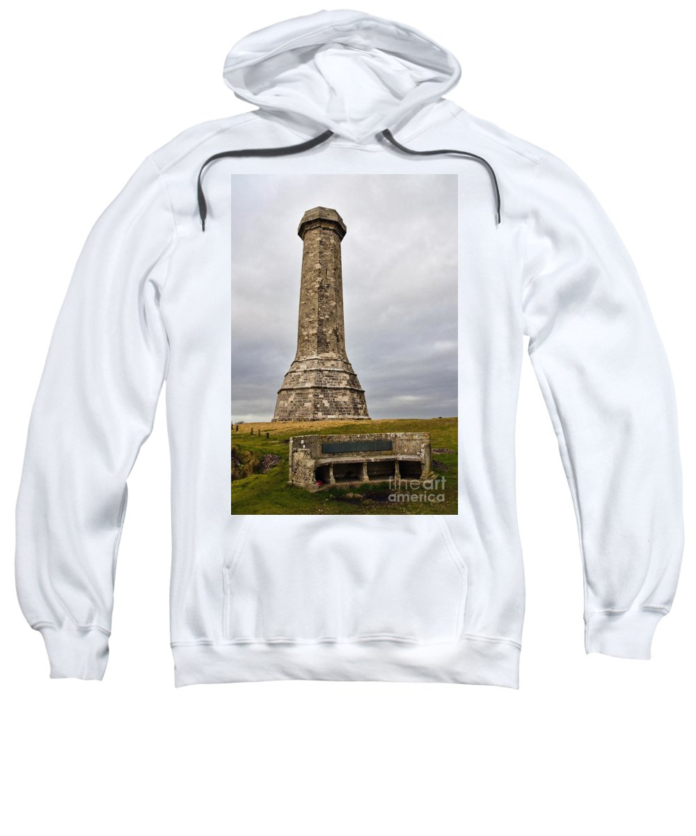 Hardy Sweatshirt featuring the photograph Hardy Monument by Susie Peek