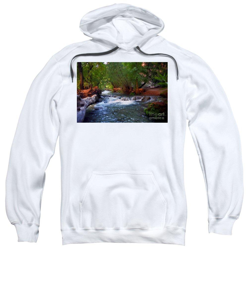 Arizona Sweatshirt featuring the photograph Havasu Creek by Kathy McClure