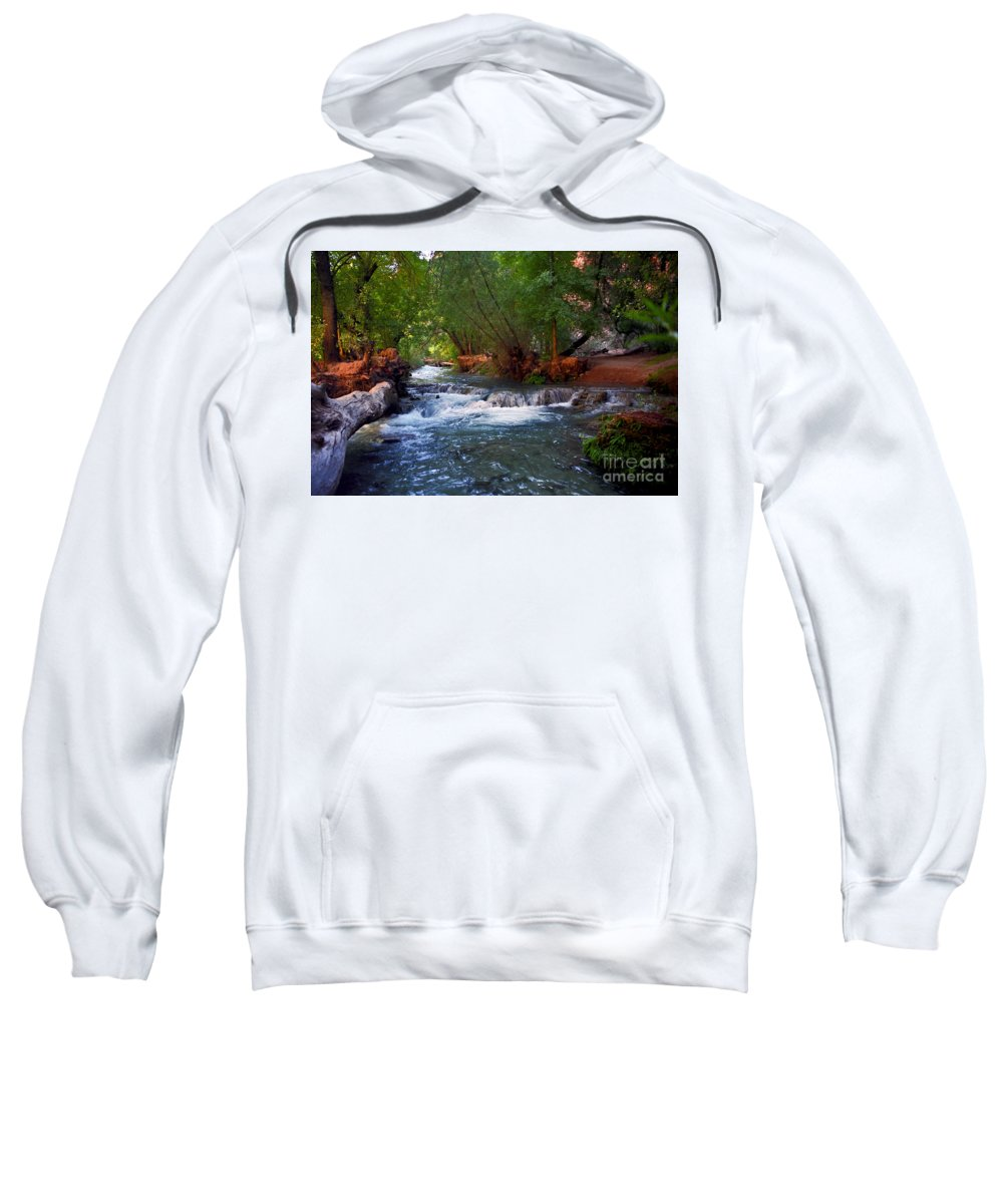 Arizona Sweatshirt featuring the photograph Havasu Creek by Kathy McClure