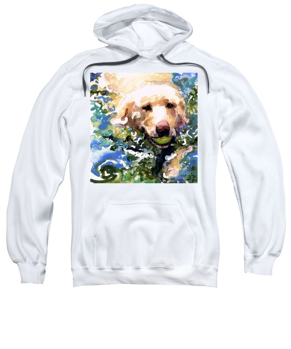 Water Retrieve Sweatshirt featuring the painting Head Above Water by Molly Poole