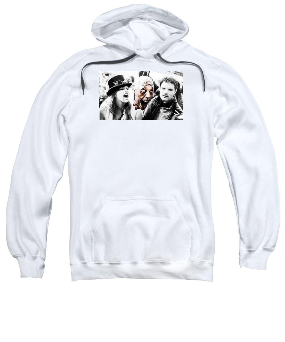 Zombie Walk Sweatshirt featuring the photograph Head Of The Death by Stwayne Keubrick