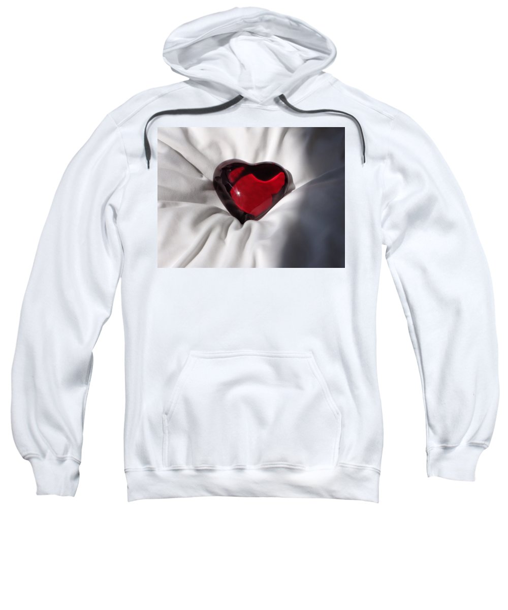 Heart Sweatshirt featuring the photograph Heavy Heart by Katie Wing Vigil