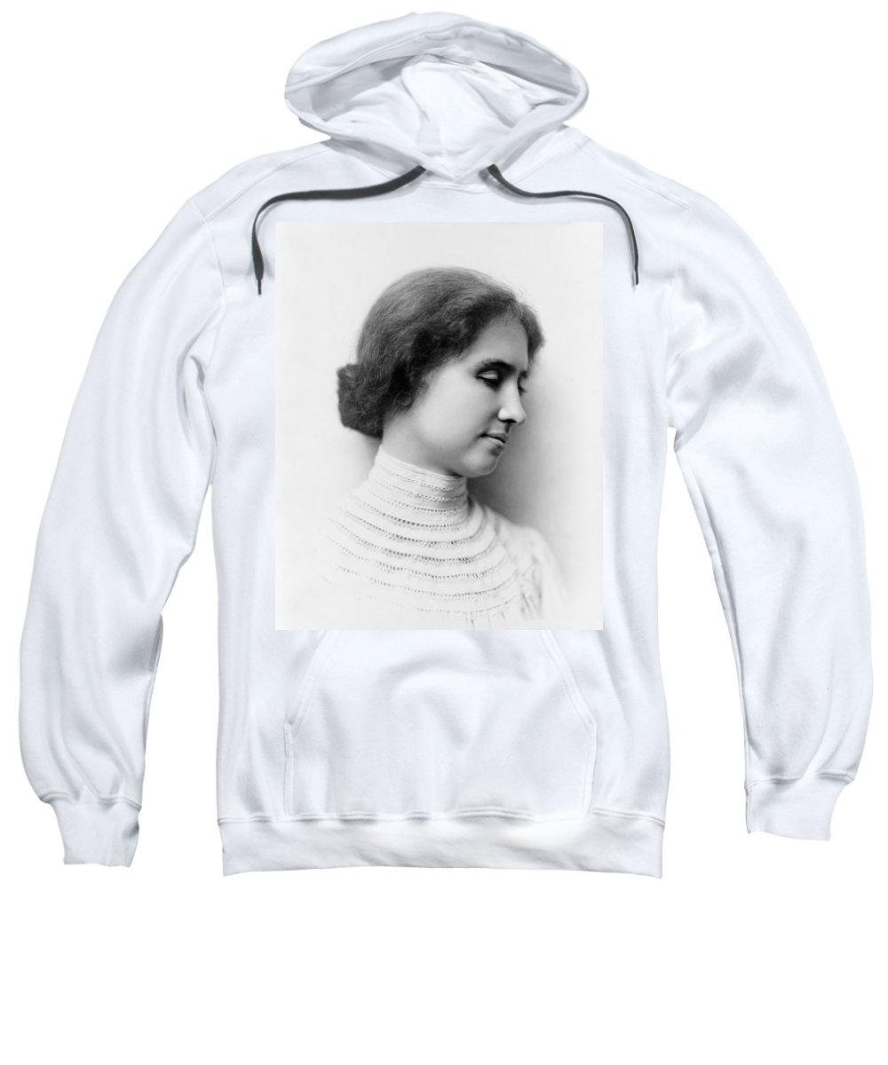 Helen Keller Sweatshirt featuring the photograph Helen Keller by Mountain Dreams