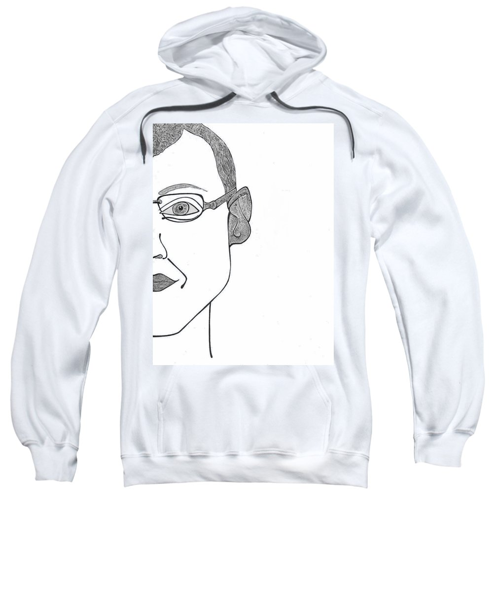 Portrait Sweatshirt featuring the drawing Henrik by Alex Art and Photo