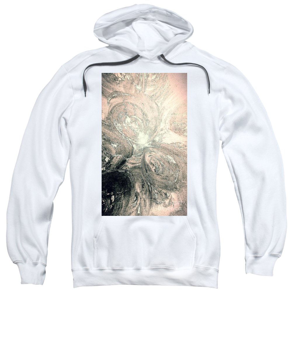 Glow Sweatshirt featuring the painting Her Inner Glow by Jacqueline McReynolds