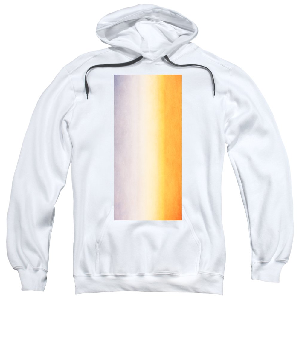 Abstract Sweatshirt featuring the mixed media Here Comes The Sun Triptych 2 by Angelina Vick