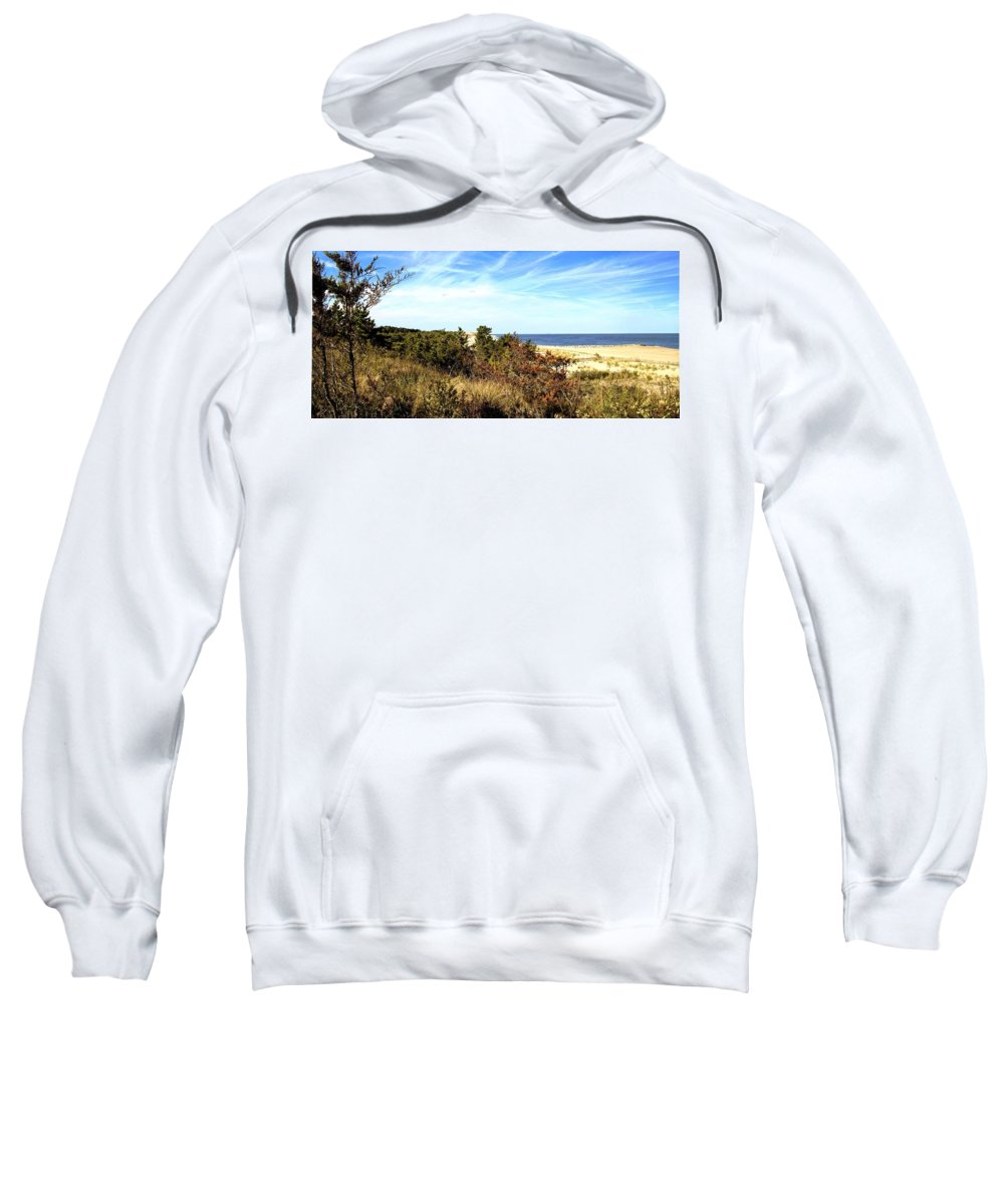 Herring Point Sweatshirt featuring the photograph Herring Point by Robert McCulloch