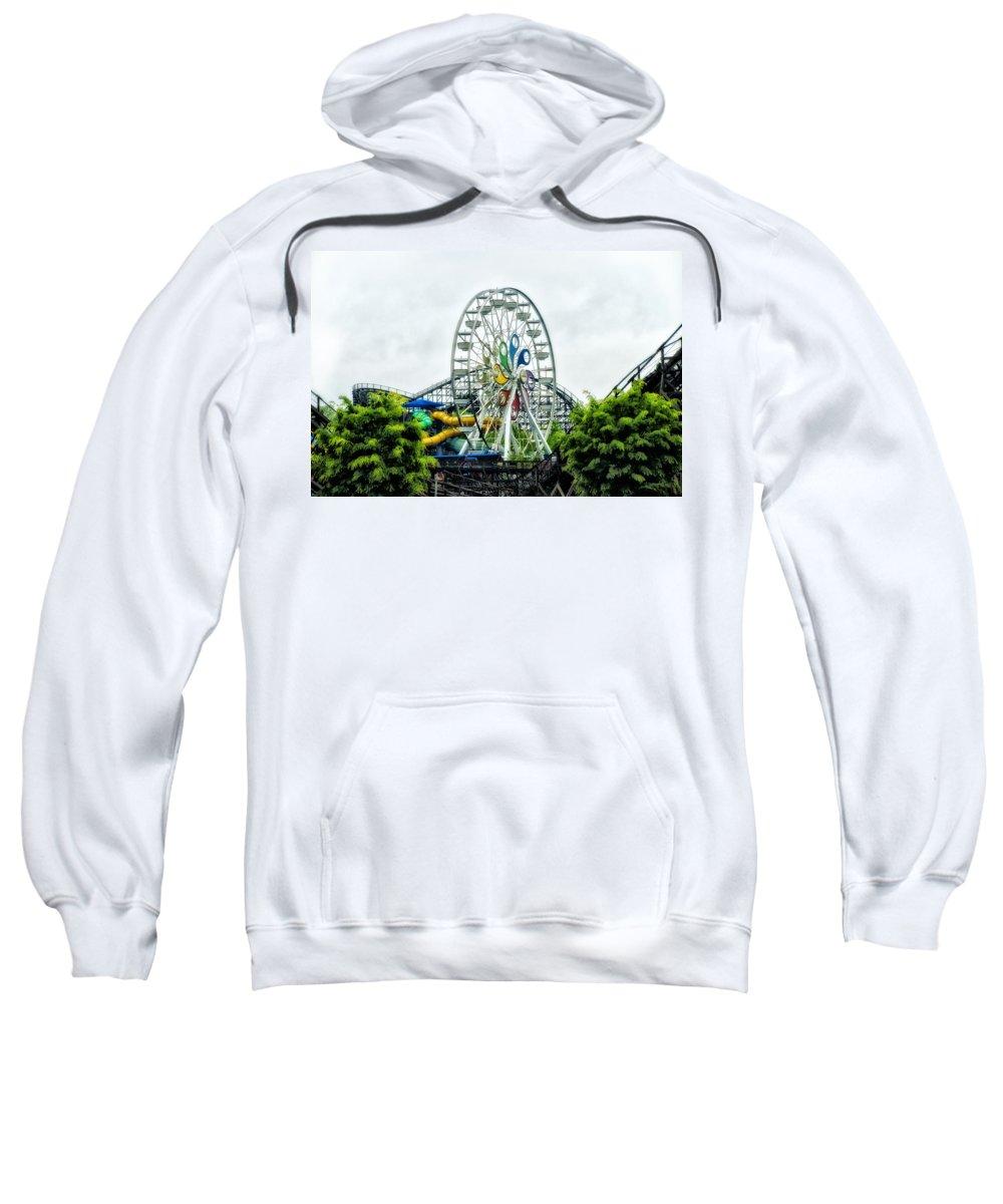 Hershey Sweatshirt featuring the photograph Hershey Park Ferris Wheel by Bill Cannon