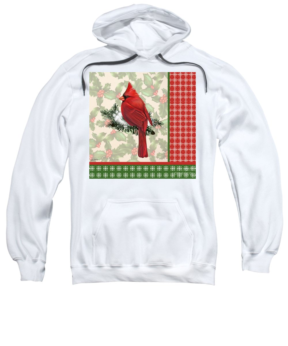 Digital Art Sweatshirt featuring the digital art Holly And Berries-e by Jean Plout