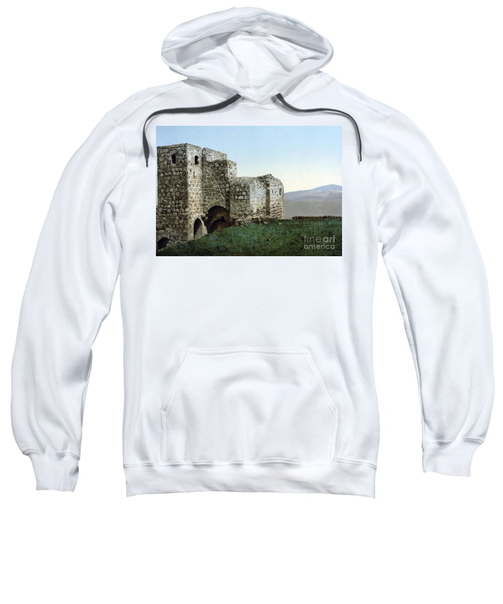 1895 Sweatshirt featuring the photograph Holy Land: Ruins by Granger