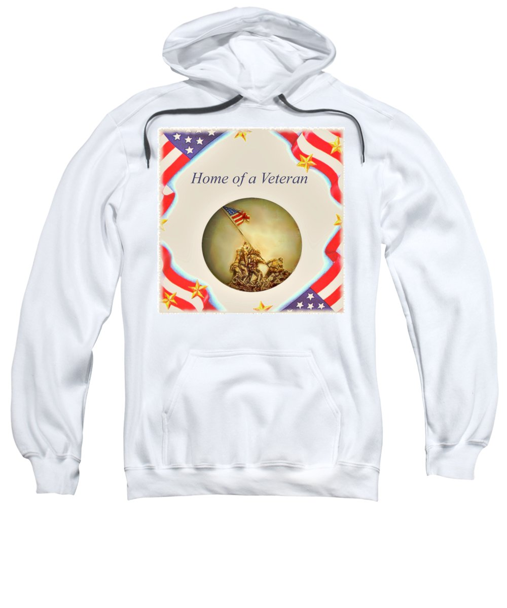 Art Sweatshirt featuring the painting Home Of A Veteran by Charles Ott