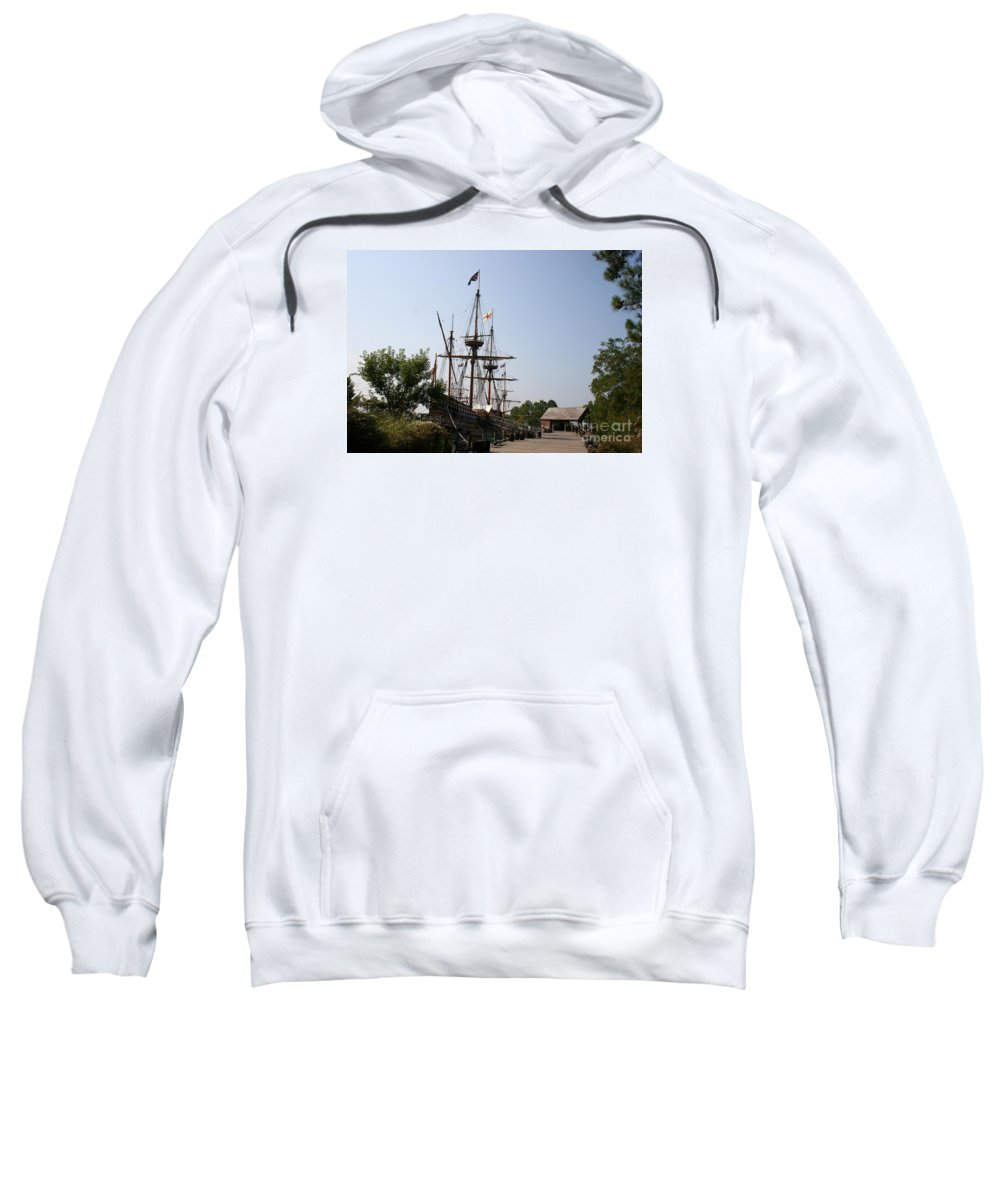 Homesteader Sweatshirt featuring the photograph Homesteaders Ships by Christiane Schulze Art And Photography