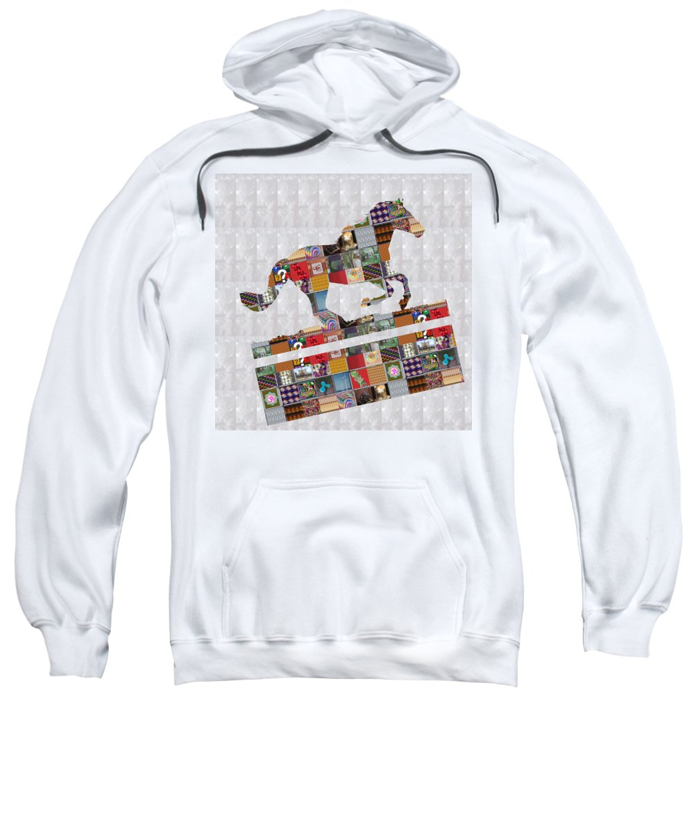 Horse Sweatshirt featuring the painting Horse Ride Showcasing Navinjoshi Gallery Art Icons Buy Faa Products Or Download For Self Printing N by Navin Joshi