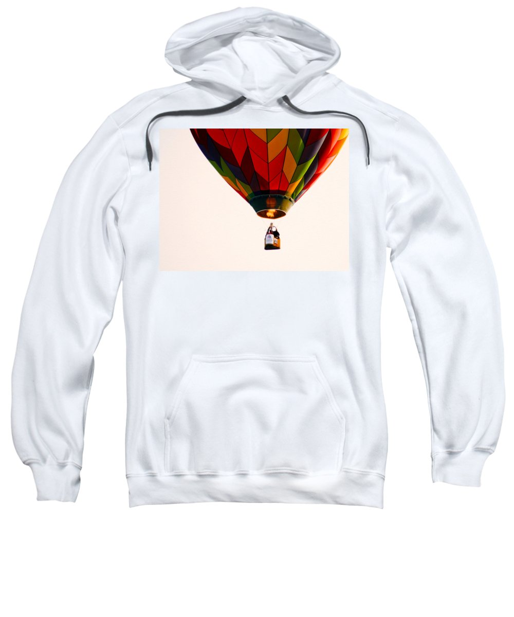 Just Caught This Flight Sweatshirt featuring the photograph Hot Air Balloon by Tracy Winter