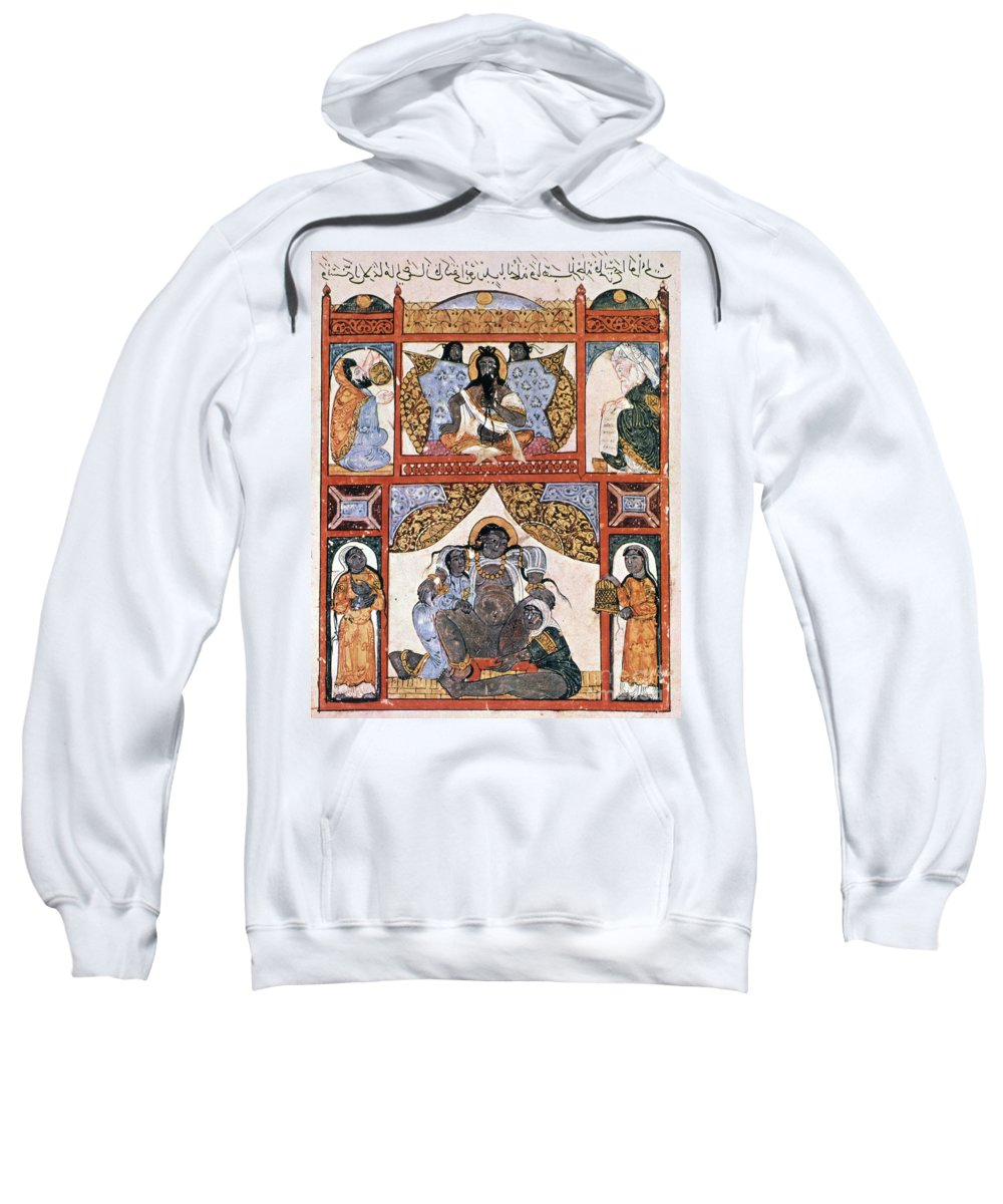 1237 Sweatshirt featuring the photograph Hour Of Birth: Arabic Ms by Granger