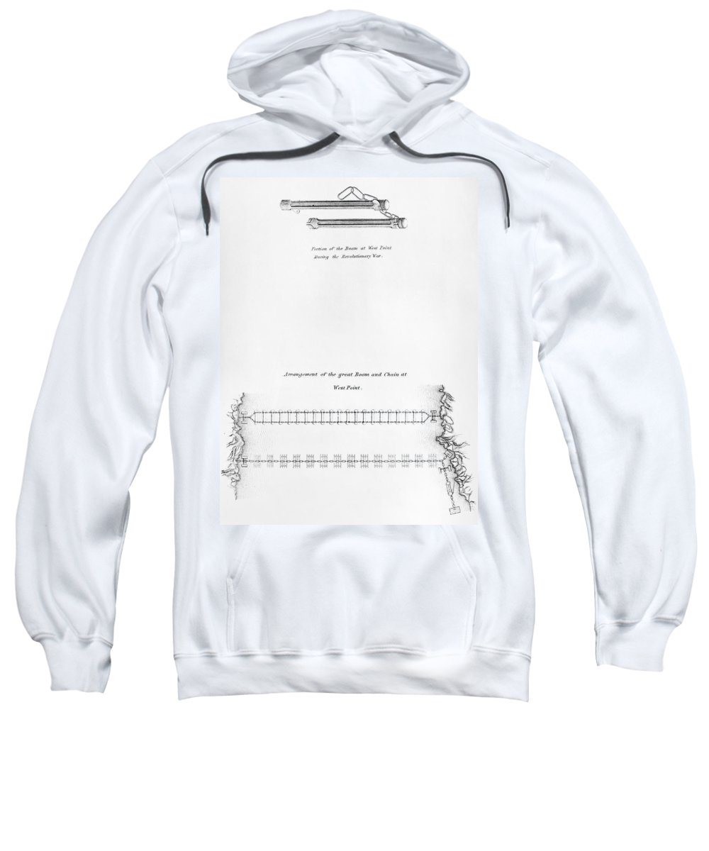 1778 Sweatshirt featuring the photograph Hudson River: Chain, C1778 by Granger