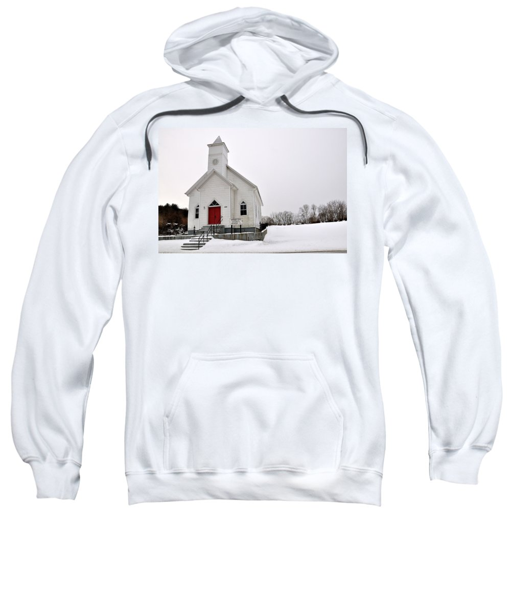 Humphreys Chapel Sweatshirt featuring the photograph Humphreys Chapel by Todd Hostetter