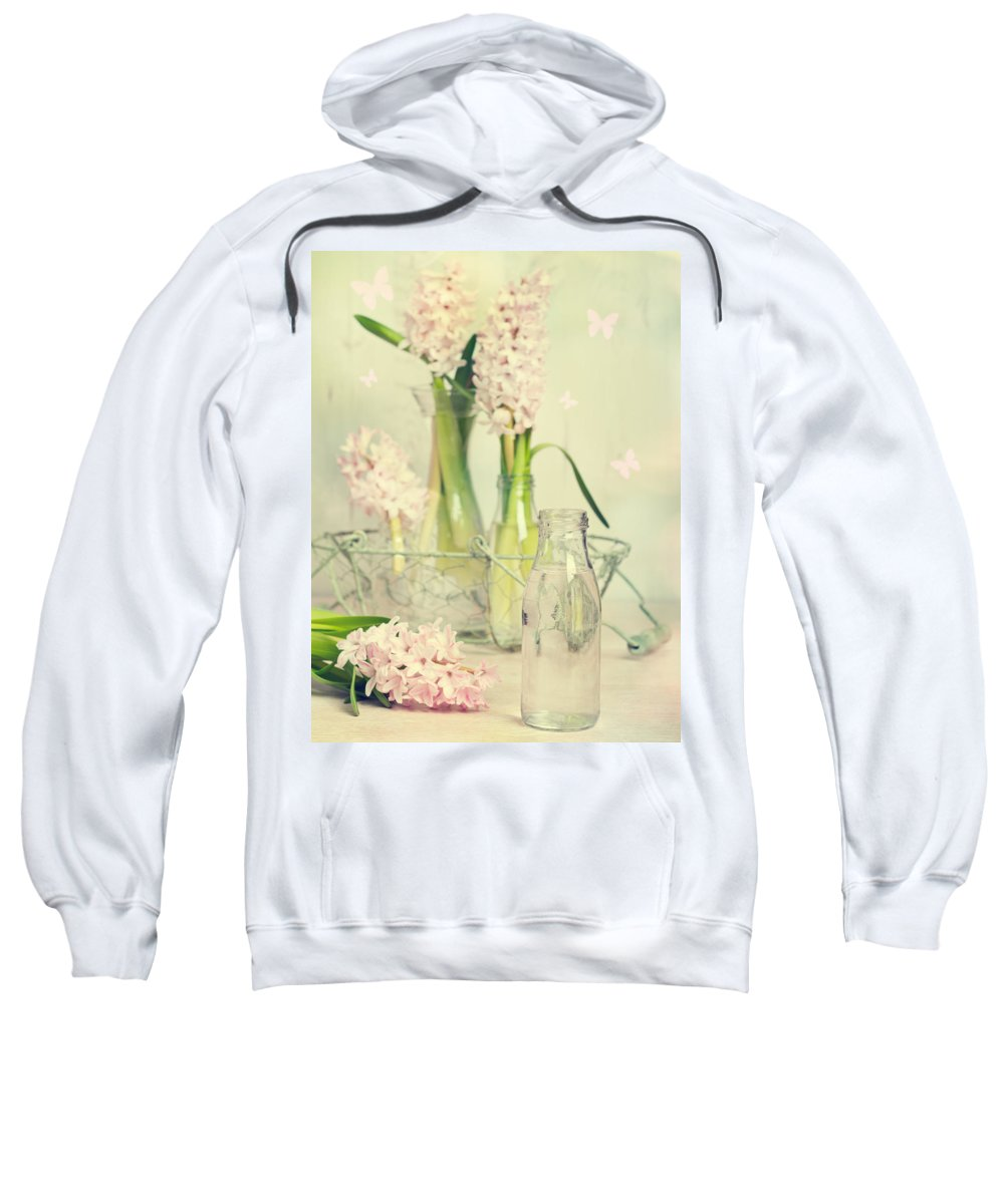 Spring Sweatshirt featuring the photograph Hyacinth Arrangement by Amanda Elwell