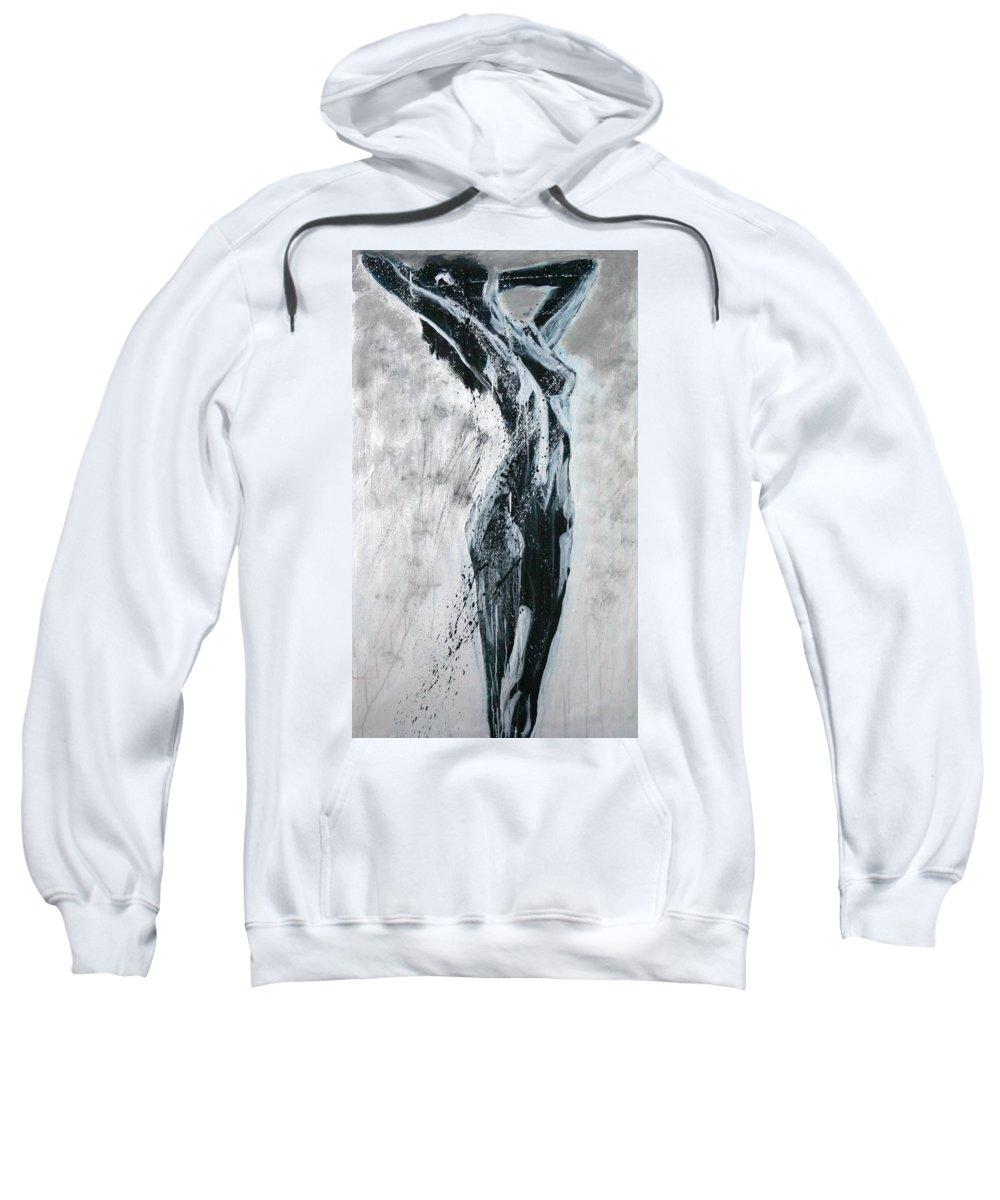 Beautiful Sweatshirt featuring the painting I Am Alive by Jarmo Korhonen aka Jarko