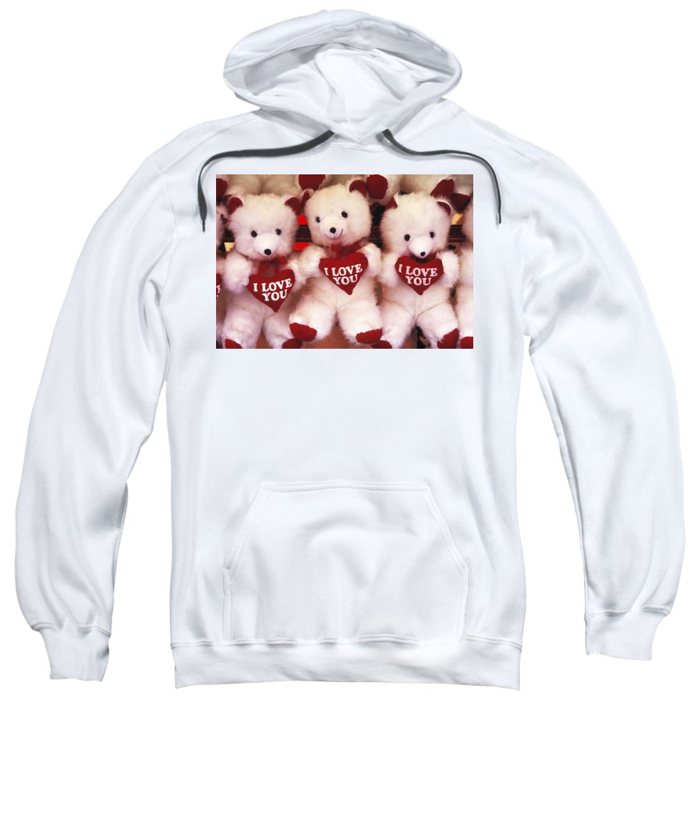 Love Sweatshirt featuring the photograph I Love You Bears by Paul W Faust - Impressions of Light