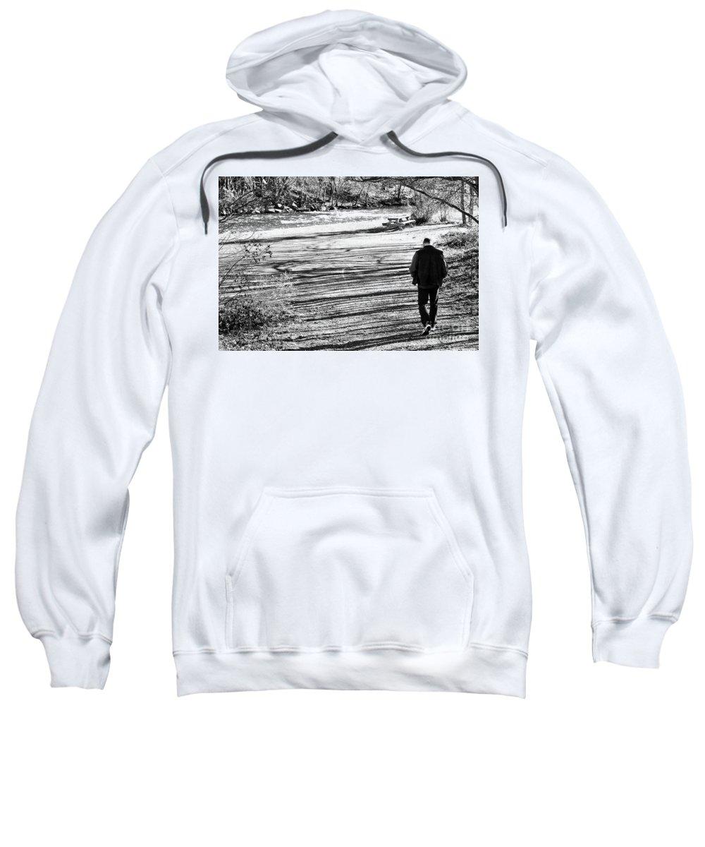 Person Sweatshirt featuring the photograph I Walk Alone by Lori Tambakis