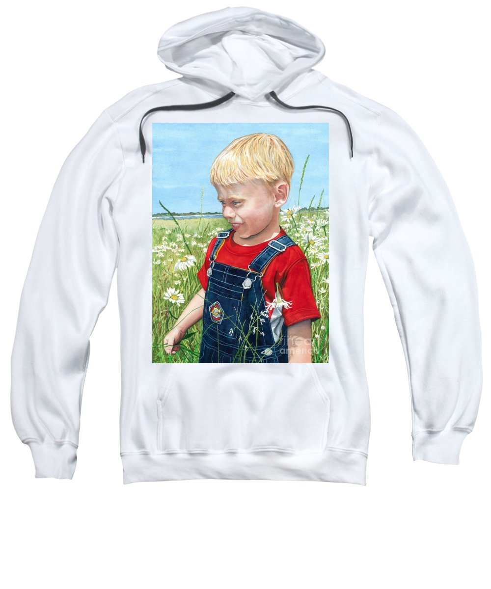 Child Sweatshirt featuring the painting Ian's Field Of Dreams by Barbara Jewell