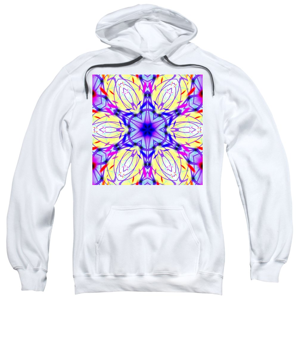 Illuminated Blossom Sweatshirt featuring the digital art Illuminated Blossom by Derek Gedney