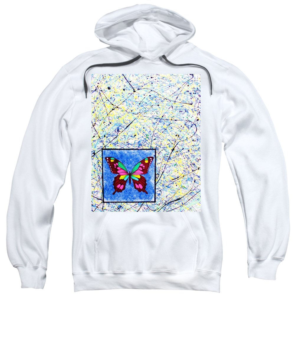 Abstract Sweatshirt featuring the painting Imperfect I by Micah Guenther