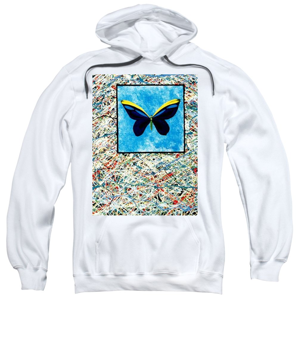 Abstract Sweatshirt featuring the painting Imperfect II by Micah Guenther