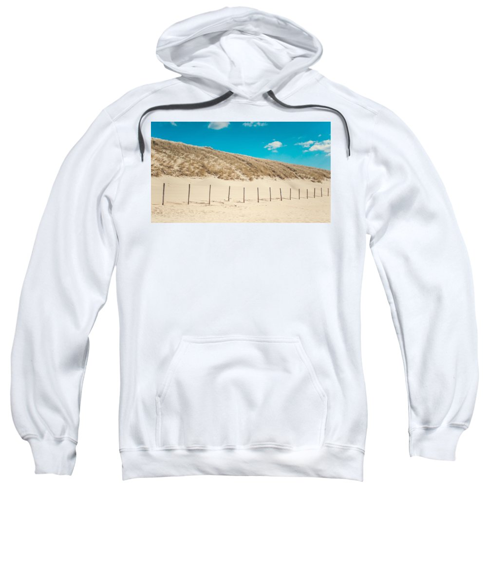 Nature Sweatshirt featuring the photograph In A Line. Coastal Dunes In Holland by Jenny Rainbow