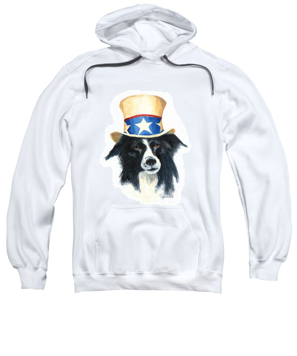 Dog Sweatshirt featuring the painting In Dog We Trust by Jerry McElroy