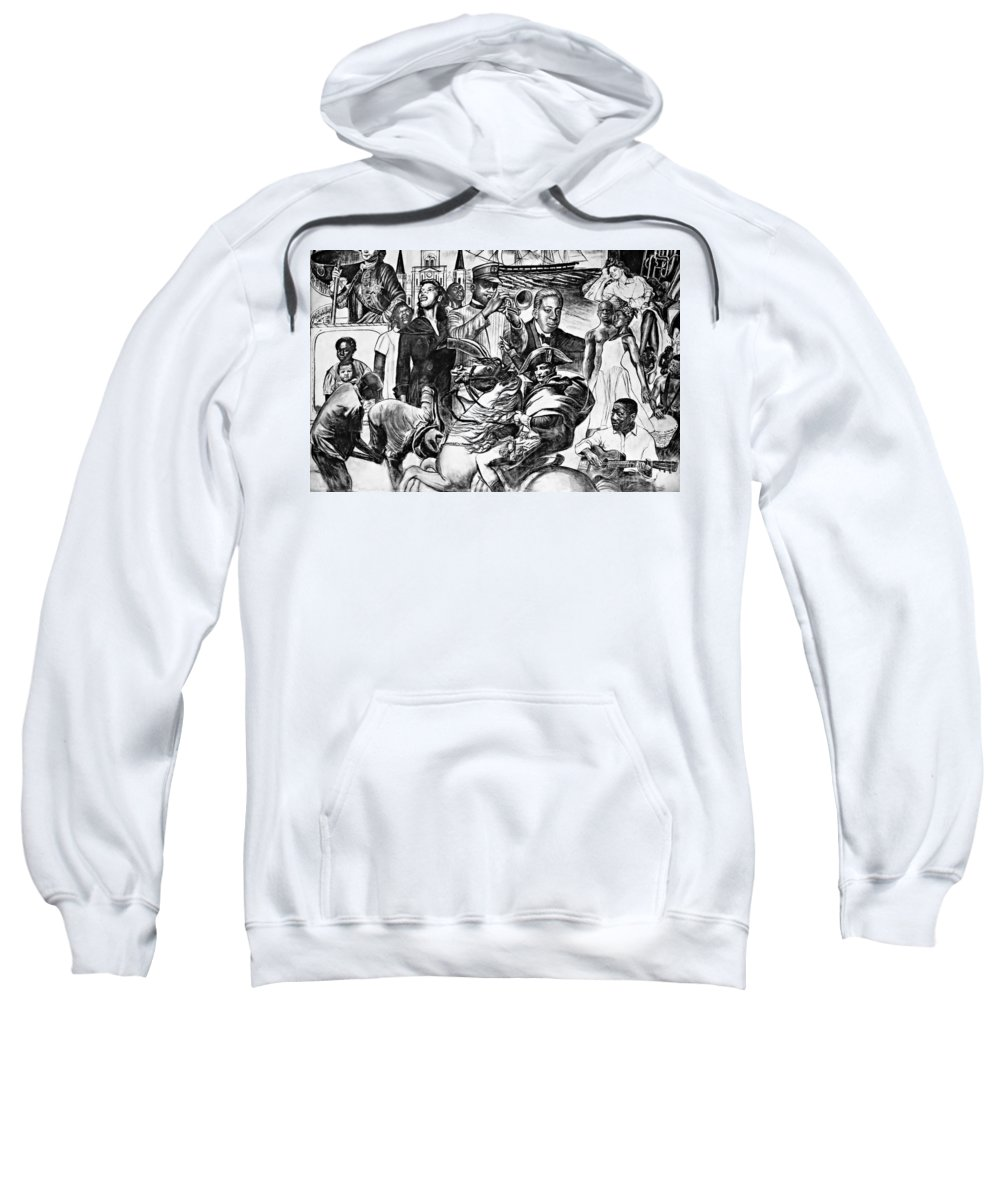 Nola Sweatshirt featuring the photograph In Praise Of Jazz Iv by Steve Harrington