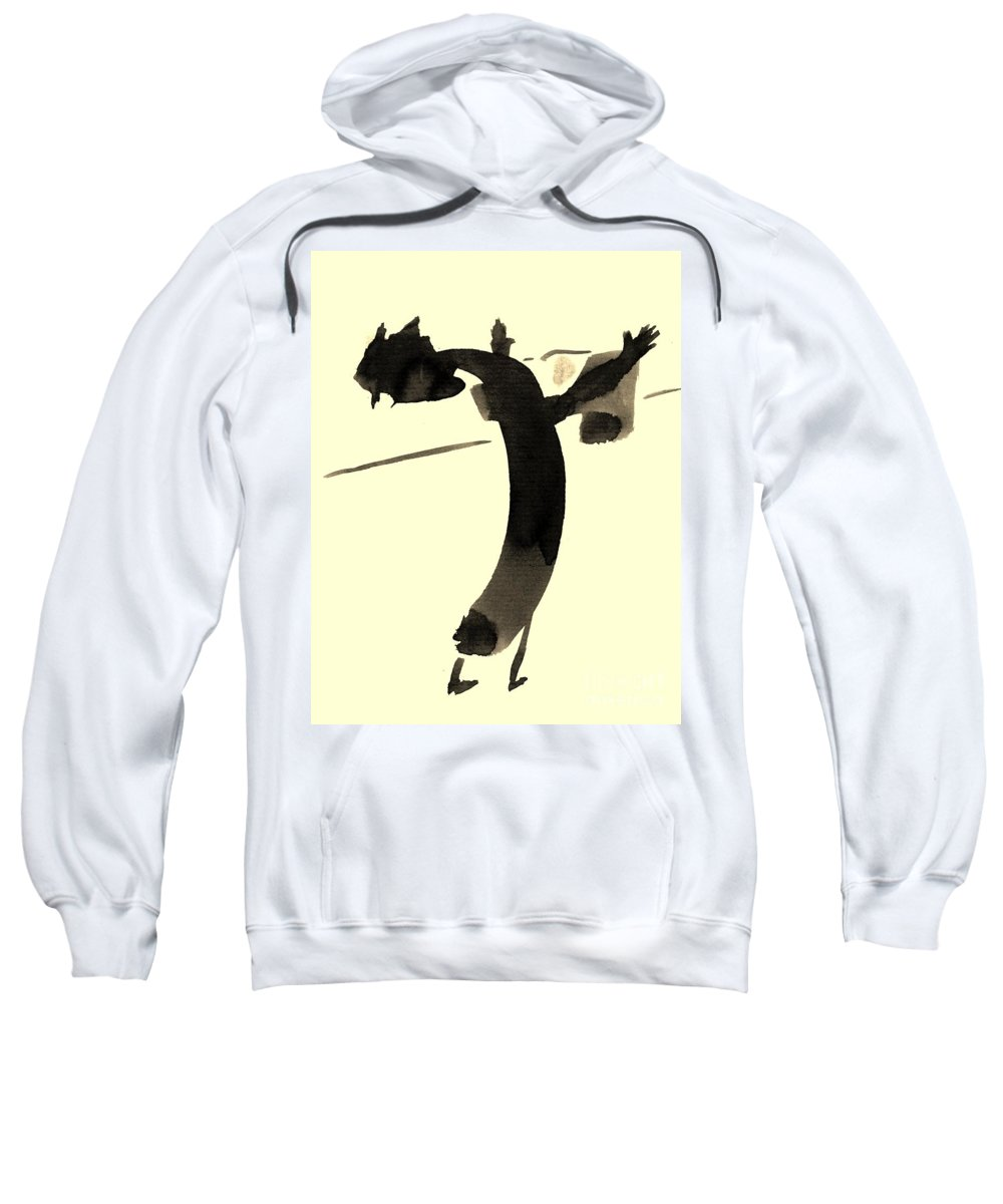 Illustration Sweatshirt featuring the drawing In Rotation by Karina Plachetka