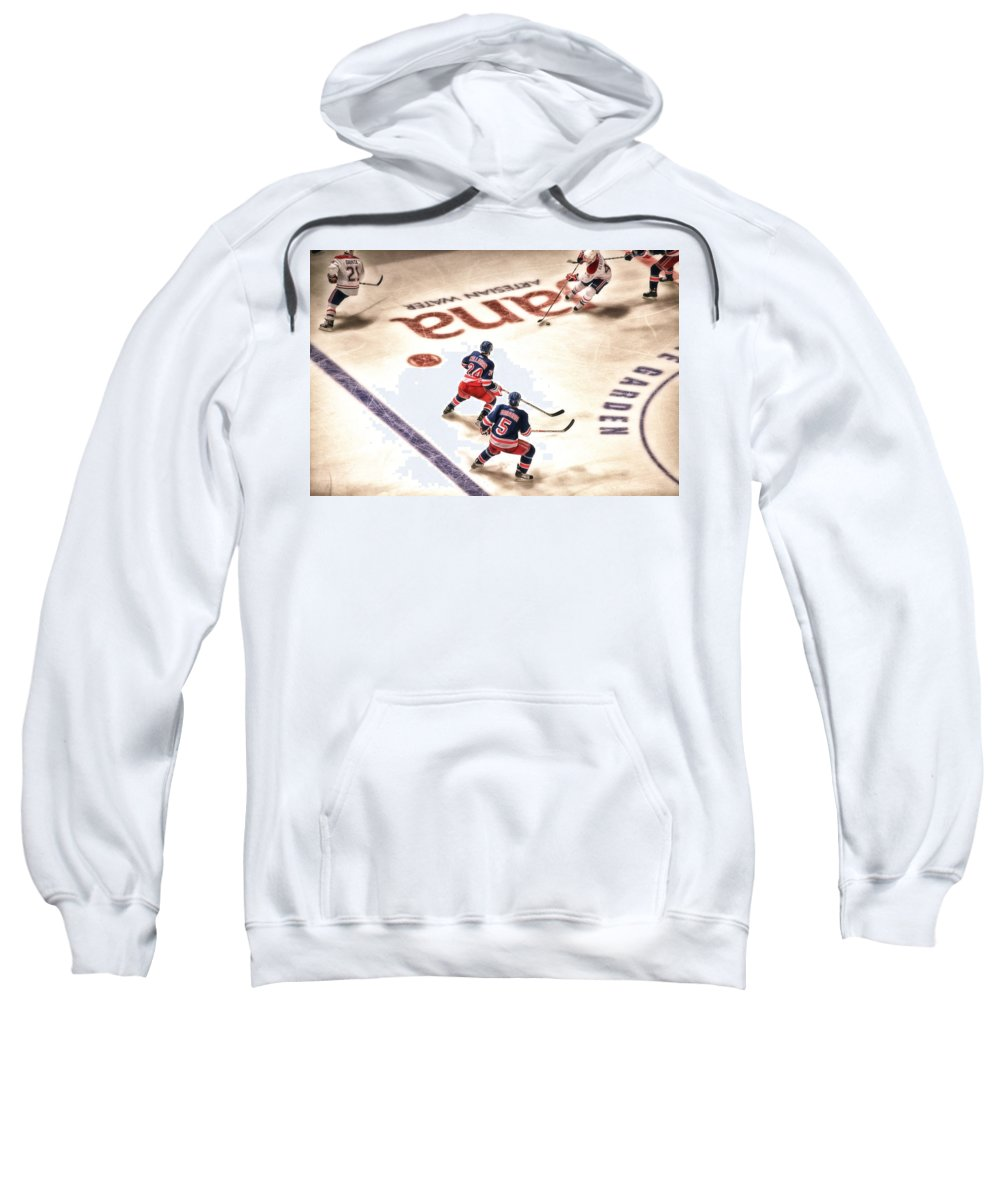 Hockey Sweatshirt featuring the photograph In The Game by Karol Livote