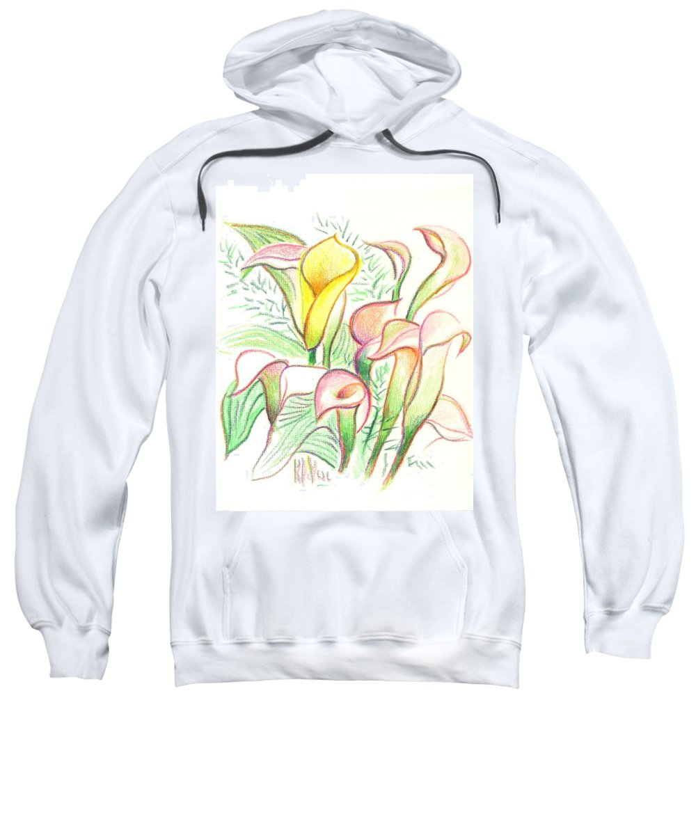In The Golden Afternoon Sweatshirt featuring the painting In The Golden Afternoon by Kip DeVore