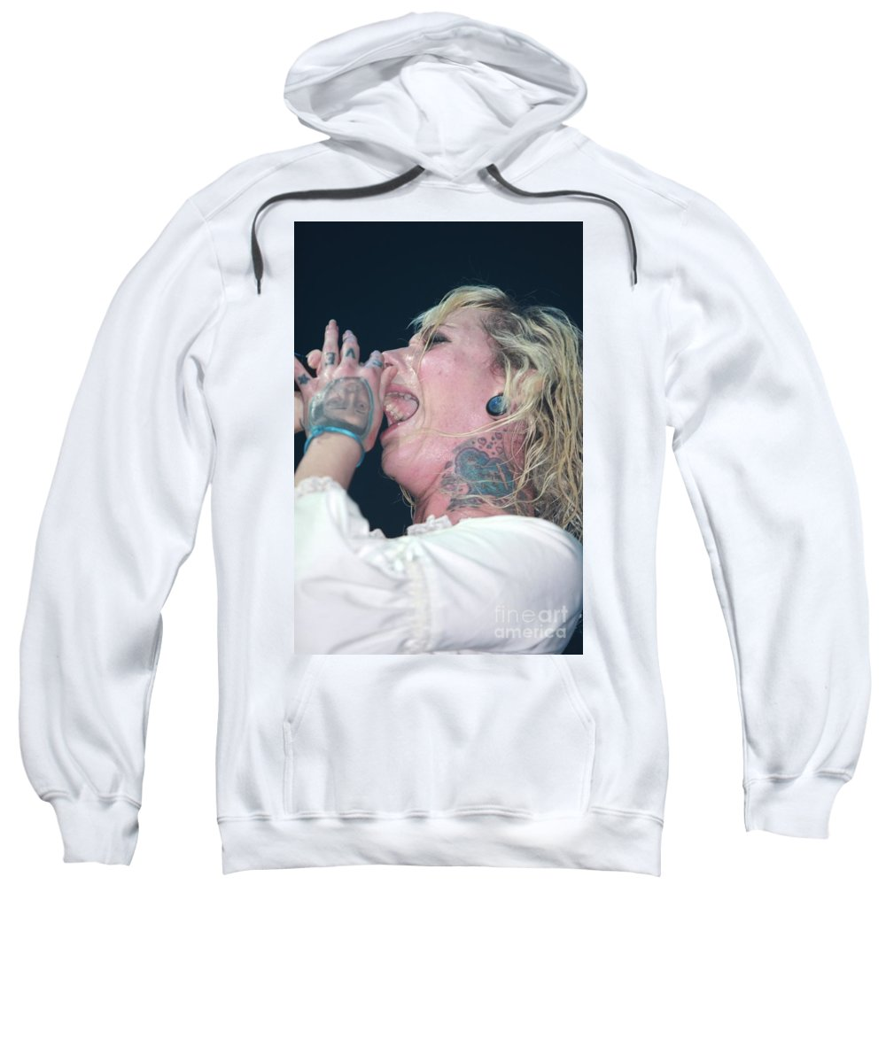 Performing Sweatshirt featuring the photograph In This Moment by Concert Photos