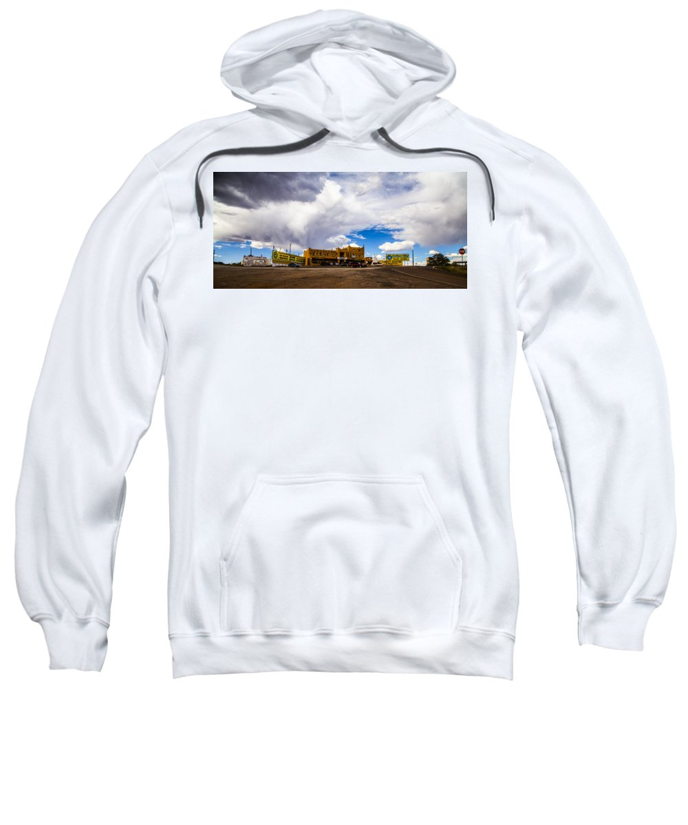 Route 66 Sweatshirt featuring the photograph Indian City by Angus Hooper Iii
