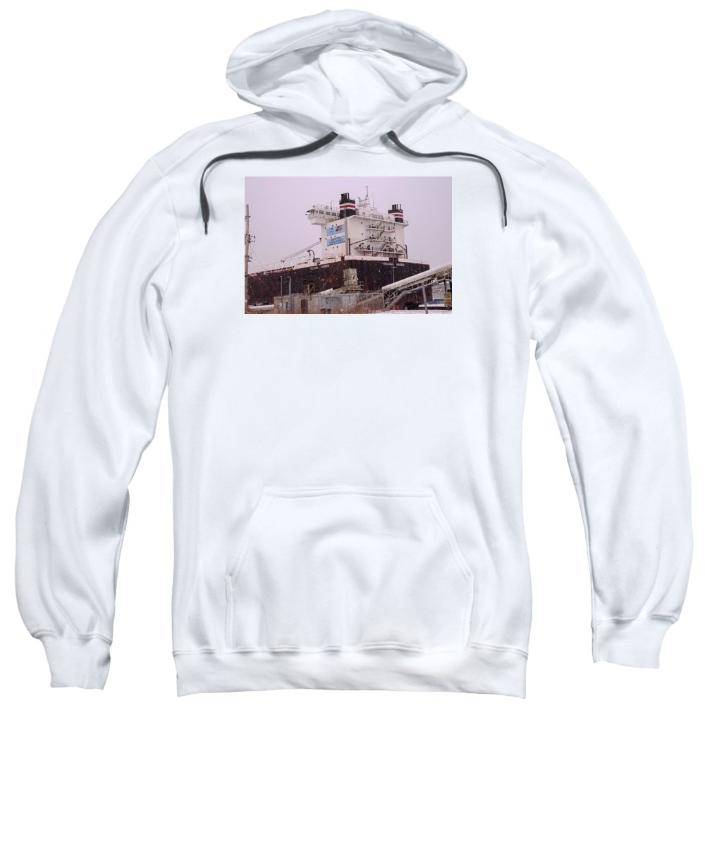 Indiana Harbor Sweatshirt featuring the photograph Indiana Harbor 1 by Susan McMenamin